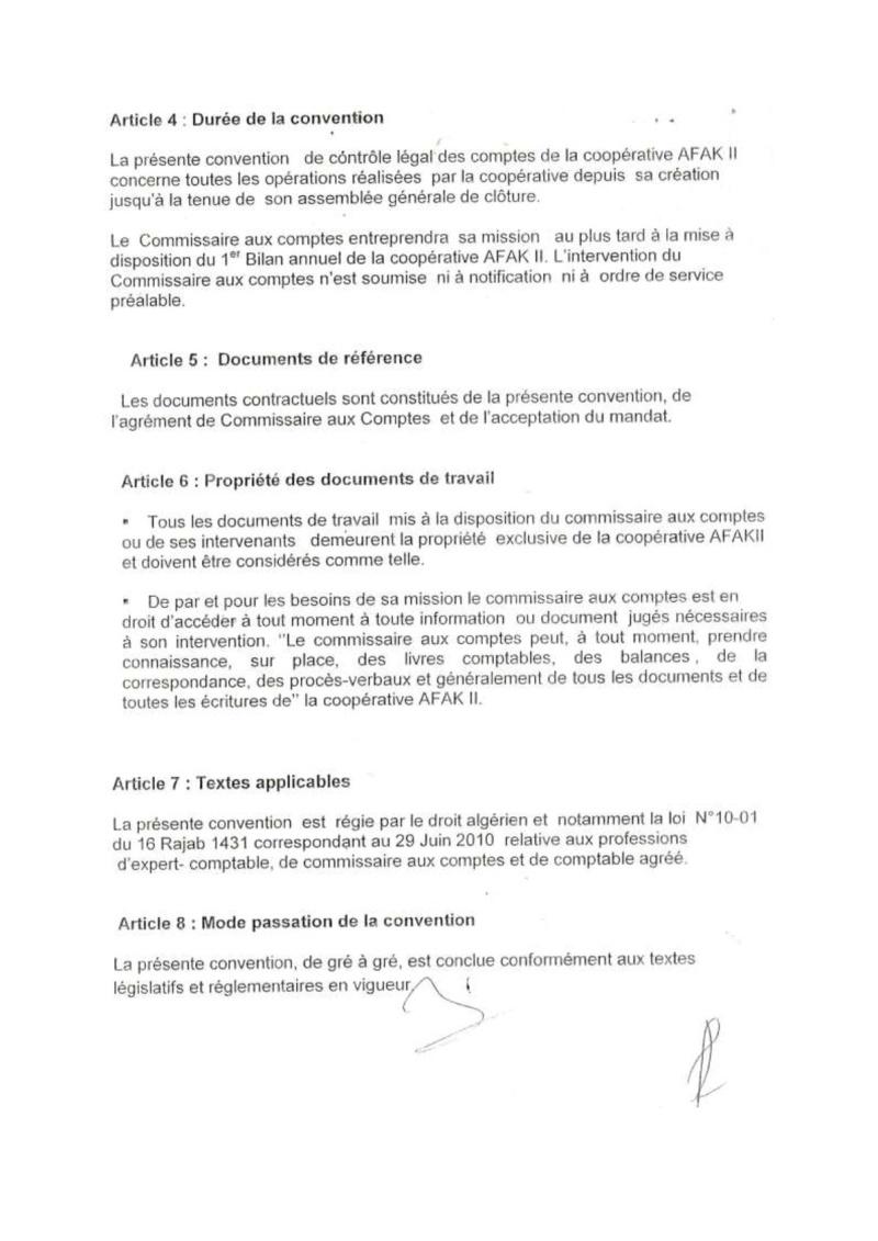 Documents officiels concernant le projet AFAK dans l'ordre chrologique 2011-024