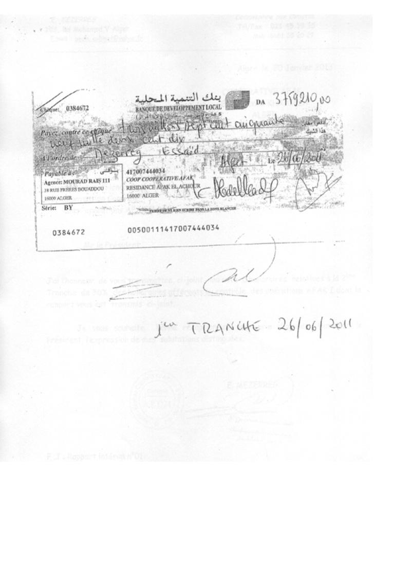 Documents officiels concernant le projet AFAK dans l'ordre chrologique 2011-030