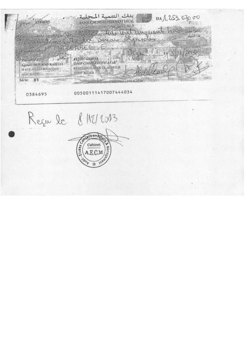 Documents officiels concernant le projet AFAK dans l'ordre chrologique 2011-036