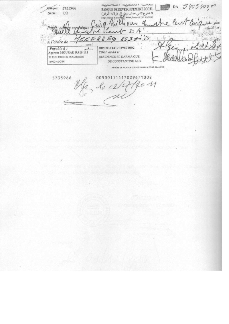 Documents officiels concernant le projet AFAK dans l'ordre chrologique 2011-039