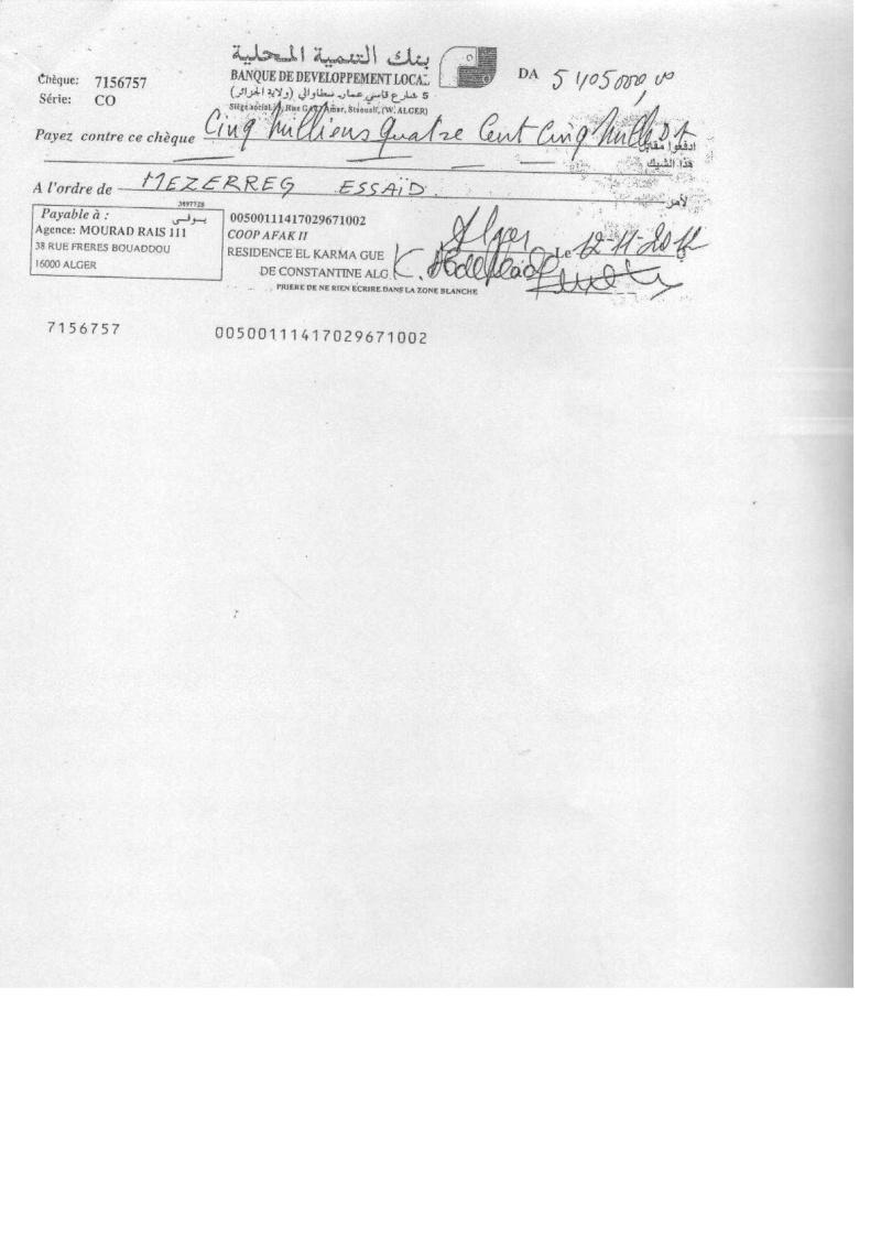 Documents officiels concernant le projet AFAK dans l'ordre chrologique 2011-044