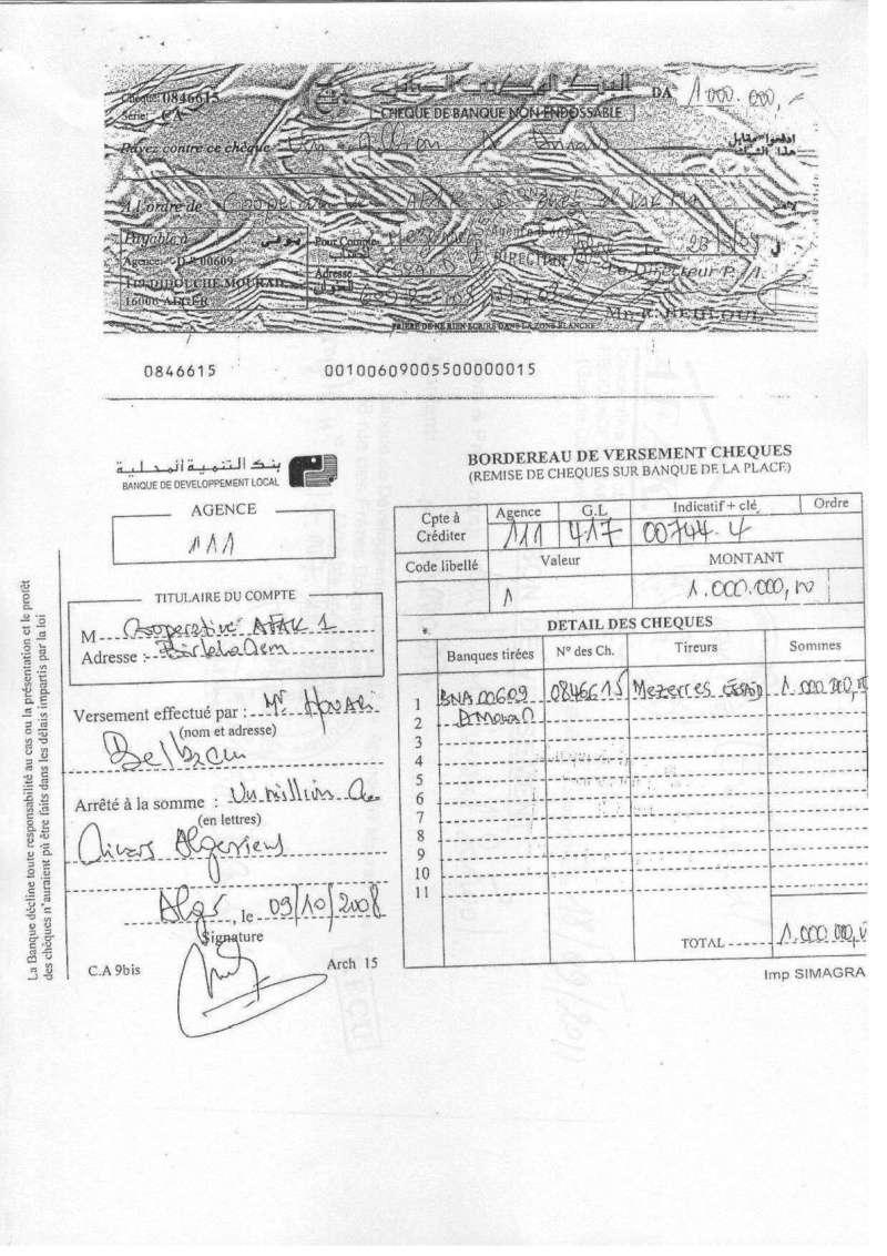 Documents officiels concernant le projet AFAK dans l'ordre chrologique 2011-119