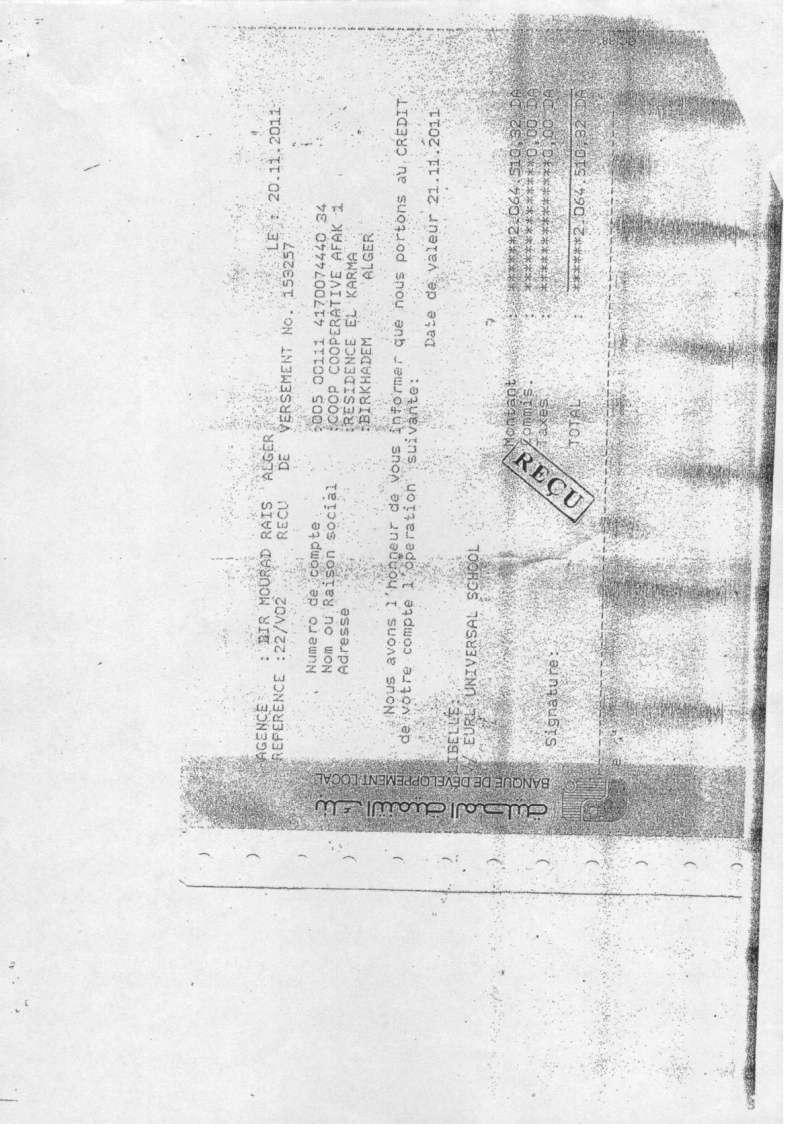Documents officiels concernant le projet AFAK dans l'ordre chrologique 2011-120