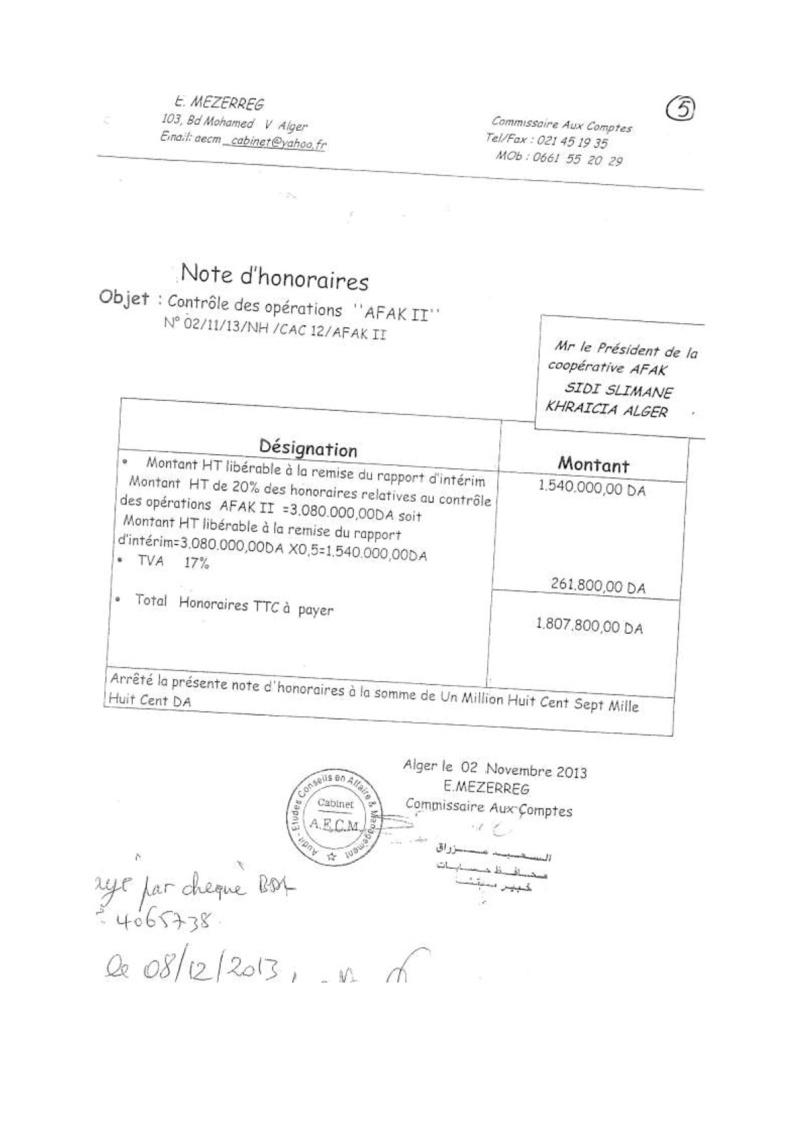 Documents officiels concernant le projet AFAK dans l'ordre chrologique 2013-122