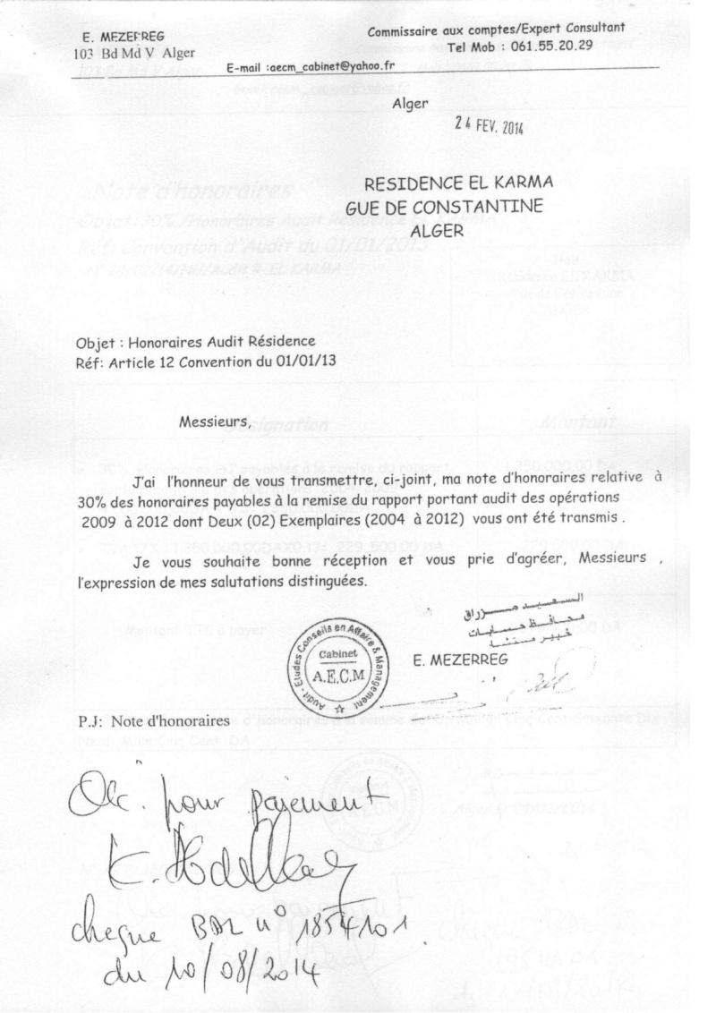 Documents officiels concernant le projet AFAK dans l'ordre chrologique 2014-018