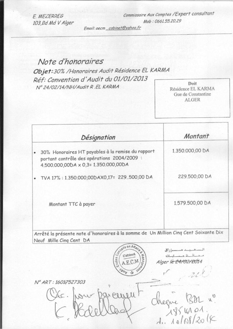 Documents officiels concernant le projet AFAK dans l'ordre chrologique 2014-019