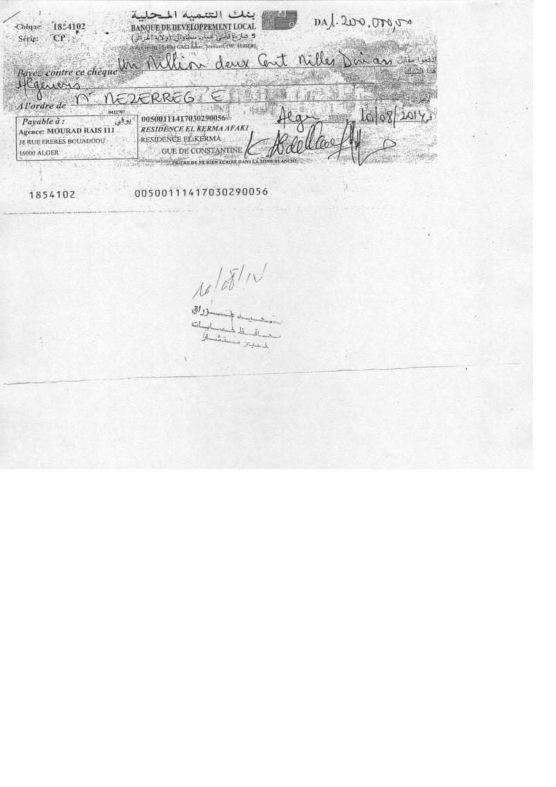 Documents officiels concernant le projet AFAK dans l'ordre chrologique 2014-020