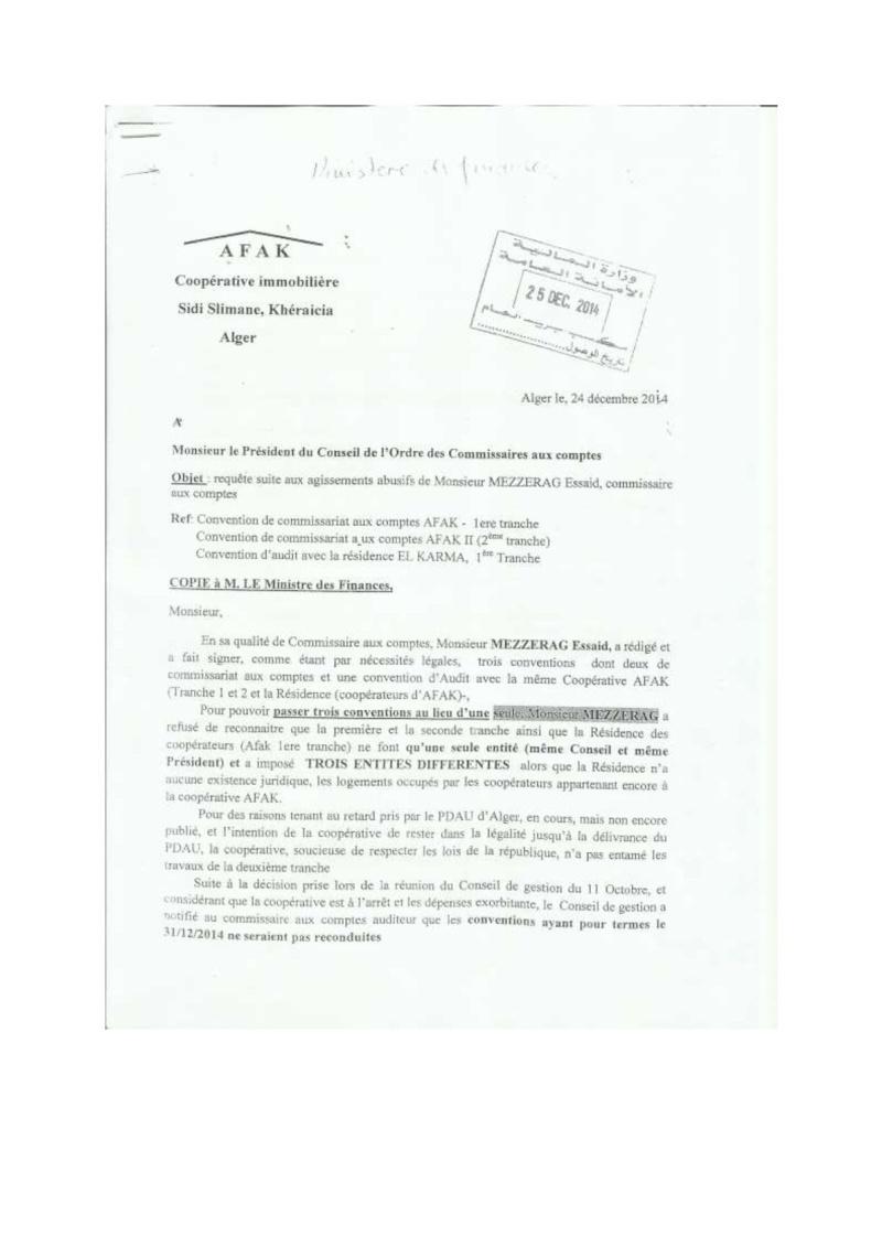 Documents officiels concernant le projet AFAK dans l'ordre chrologique 2014-128