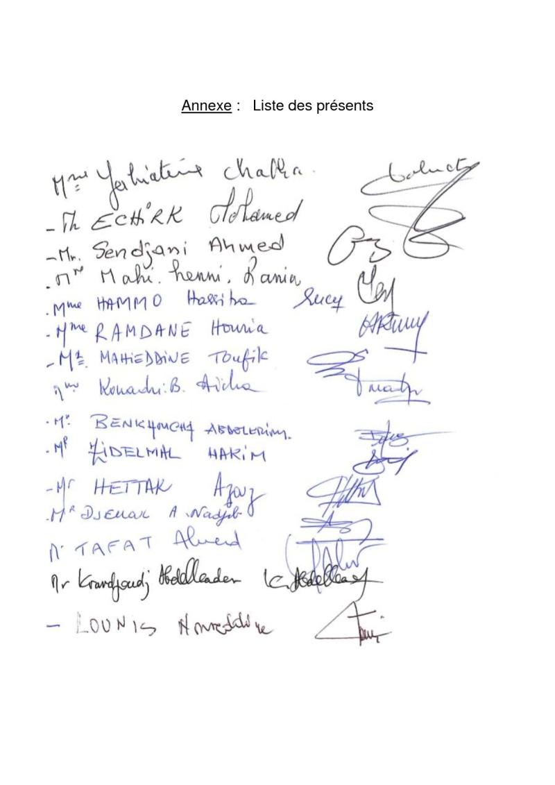 Documents officiels concernant le projet AFAK dans l'ordre chrologique 2014-134