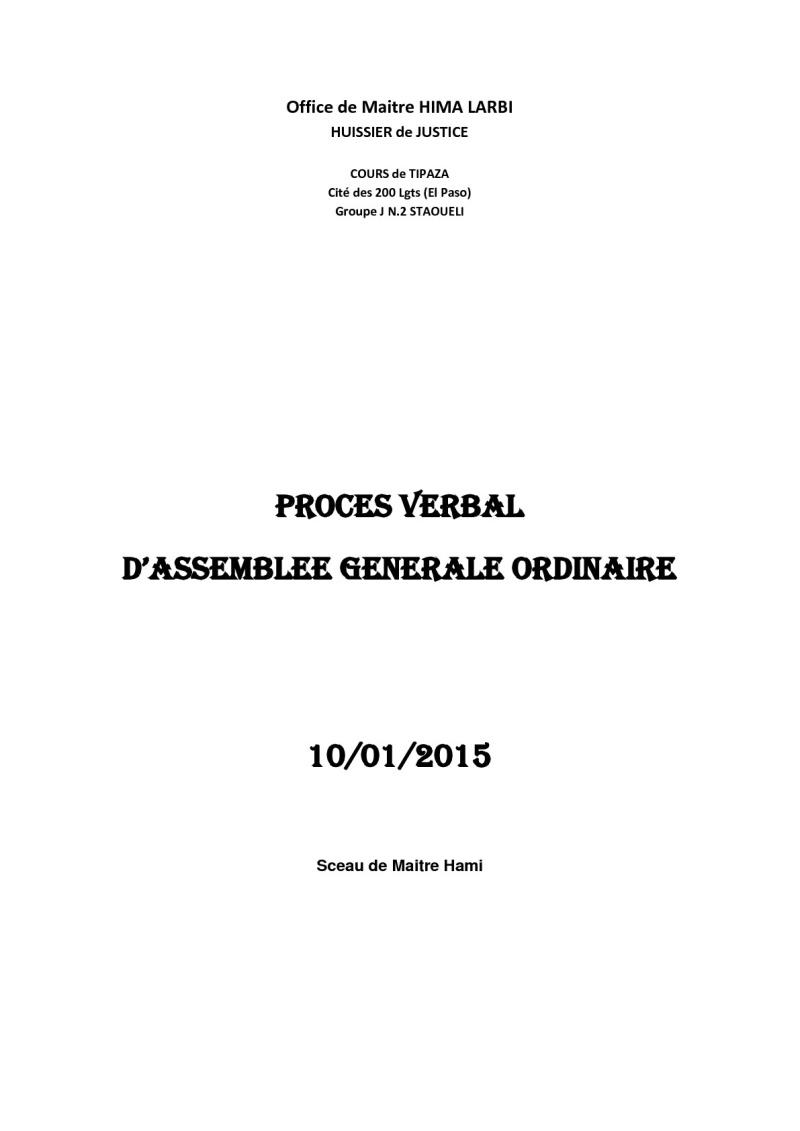 Documents officiels concernant le projet AFAK dans l'ordre chrologique 2015-034