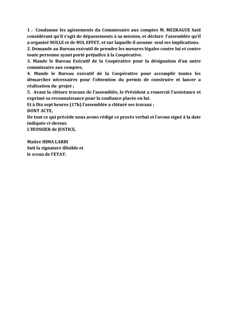 Documents officiels concernant le projet AFAK dans l'ordre chrologique 2015-036