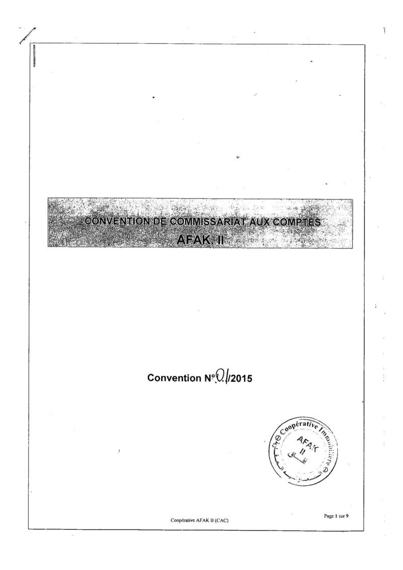 Documents officiels concernant le projet AFAK dans l'ordre chrologique 2015-095