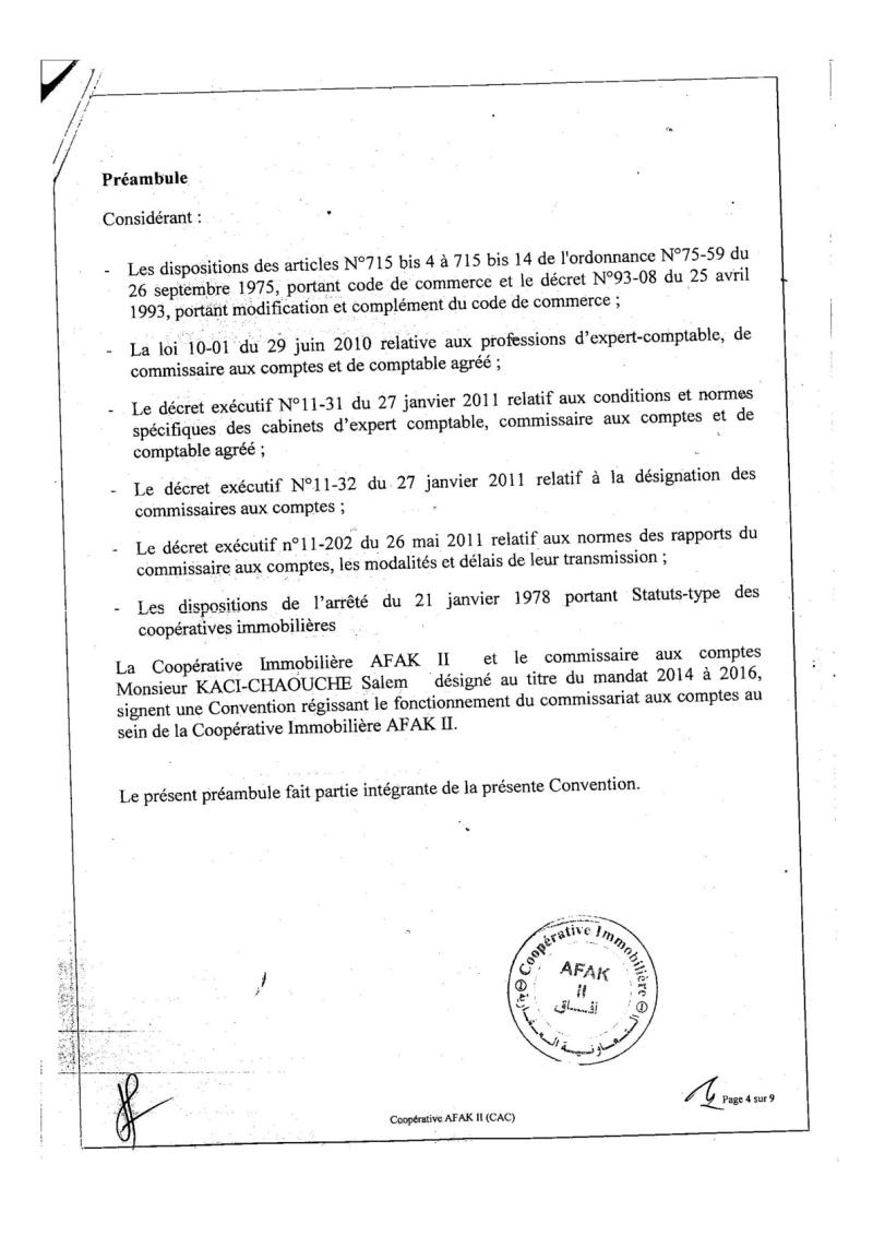 Documents officiels concernant le projet AFAK dans l'ordre chrologique 2015-098