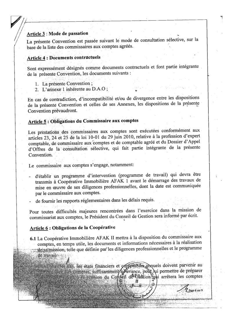 Documents officiels concernant le projet AFAK dans l'ordre chrologique 2015-099