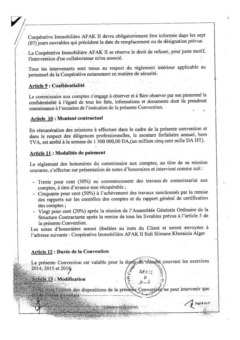Documents officiels concernant le projet AFAK dans l'ordre chrologique 2015-101