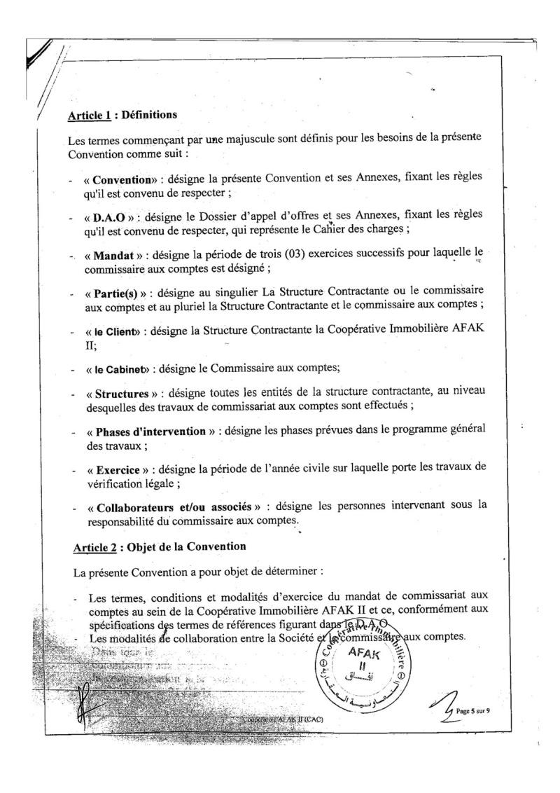 Documents officiels concernant le projet AFAK dans l'ordre chrologique 2015-104