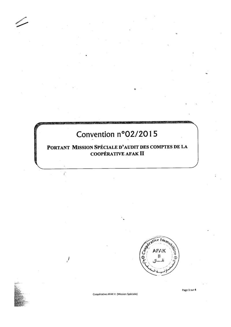 Documents officiels concernant le projet AFAK dans l'ordre chrologique 2015-129