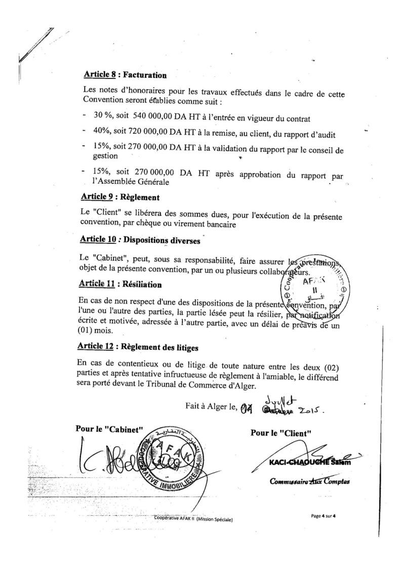 Documents officiels concernant le projet AFAK dans l'ordre chrologique 2015-130