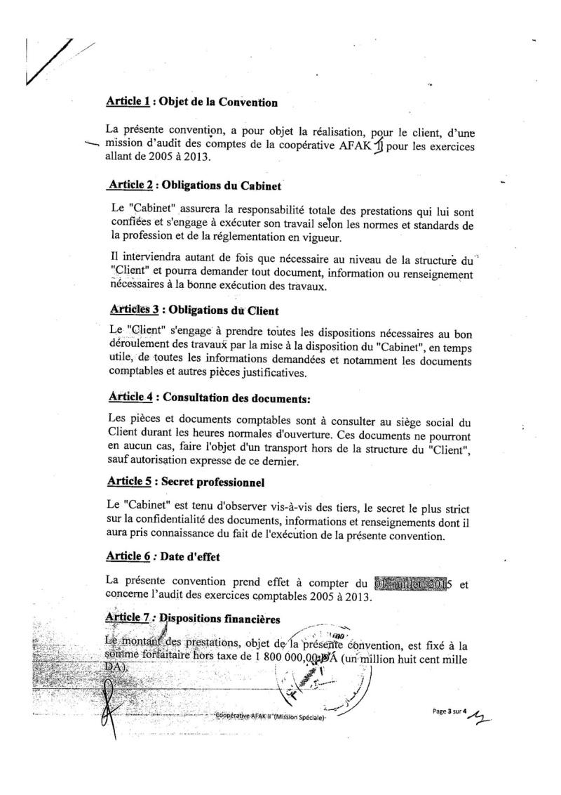 Documents officiels concernant le projet AFAK dans l'ordre chrologique 2015-131