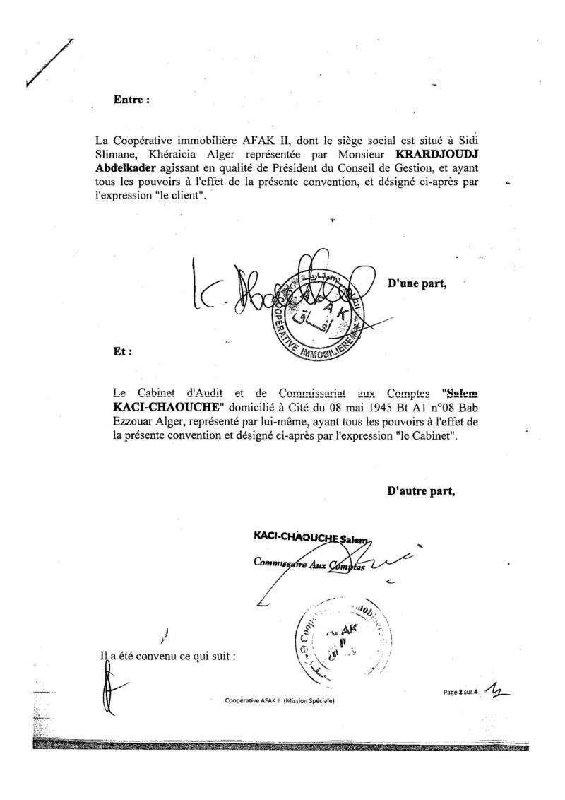 Documents officiels concernant le projet AFAK dans l'ordre chrologique 2015-133