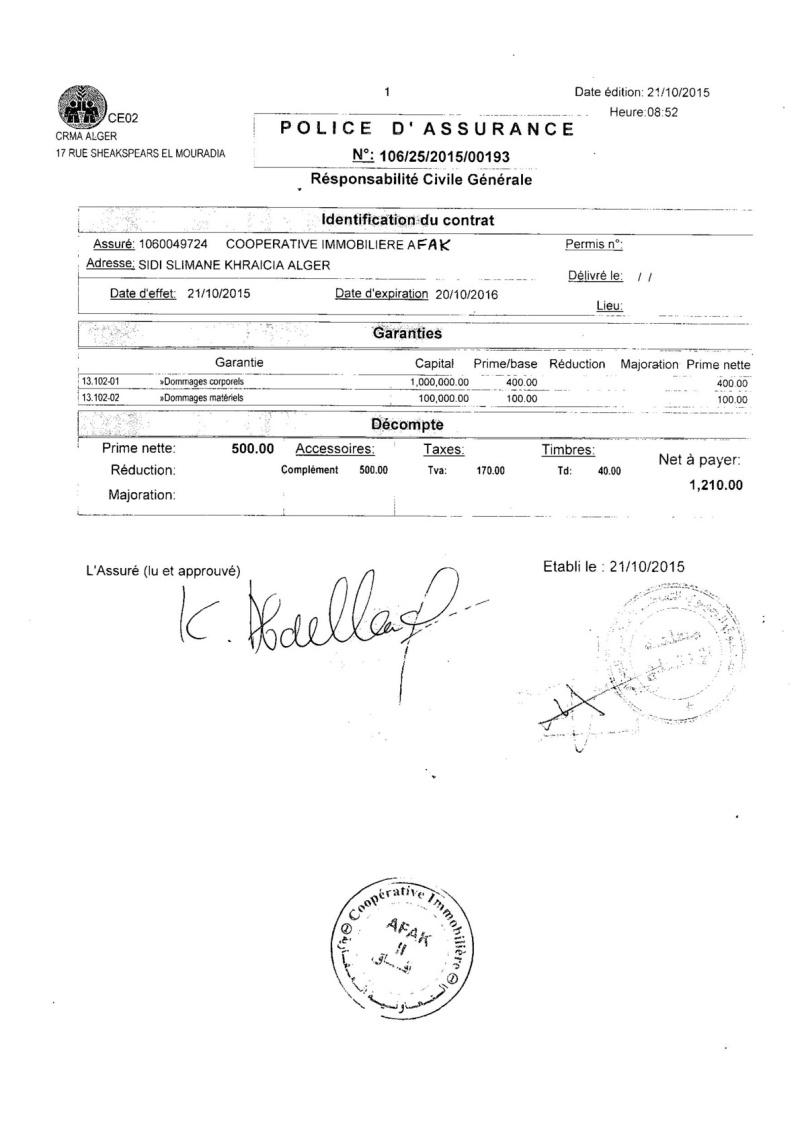 Documents officiels concernant le projet AFAK dans l'ordre chrologique 2015-155
