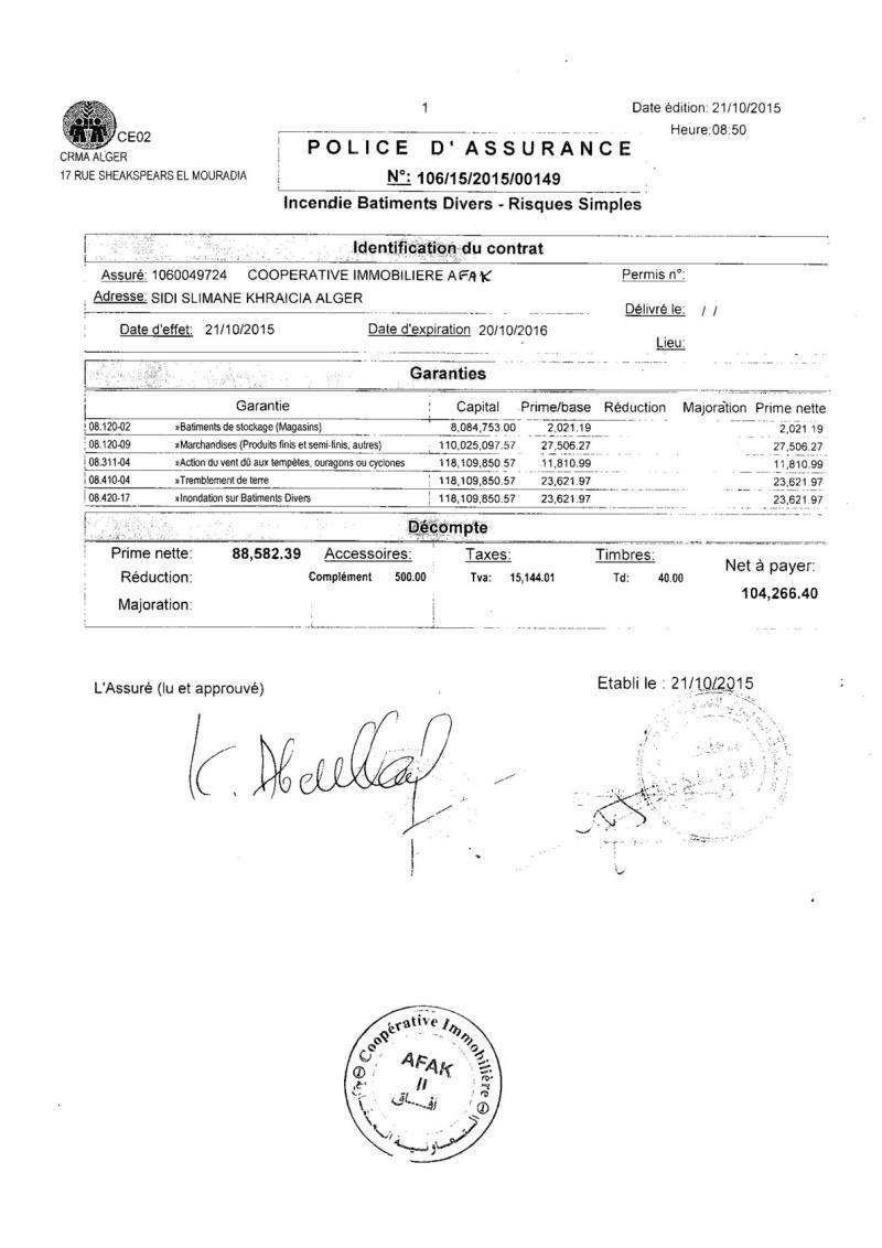 Documents officiels concernant le projet AFAK dans l'ordre chrologique 2015-156
