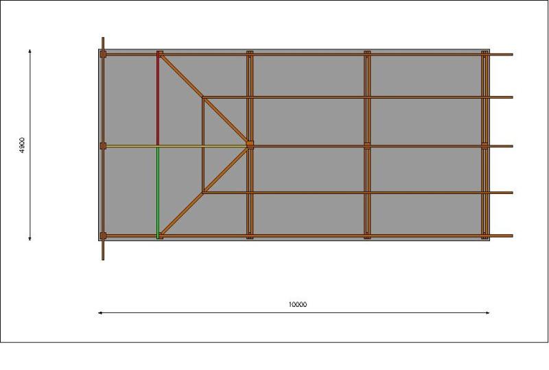 Charpente de garage avec croupe Plans10