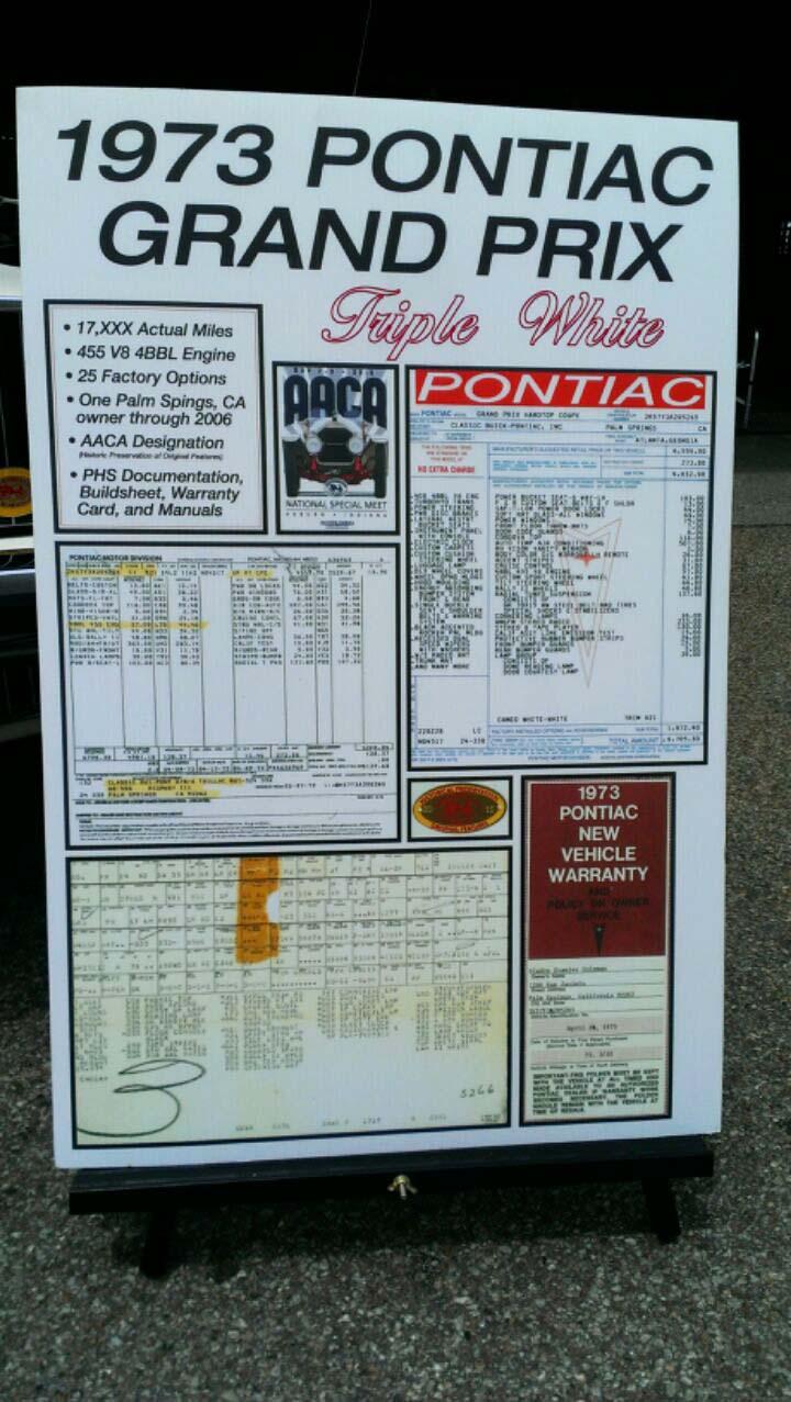 1973 Pontiac Grand Prix - Mint -  17k Miles Detail10