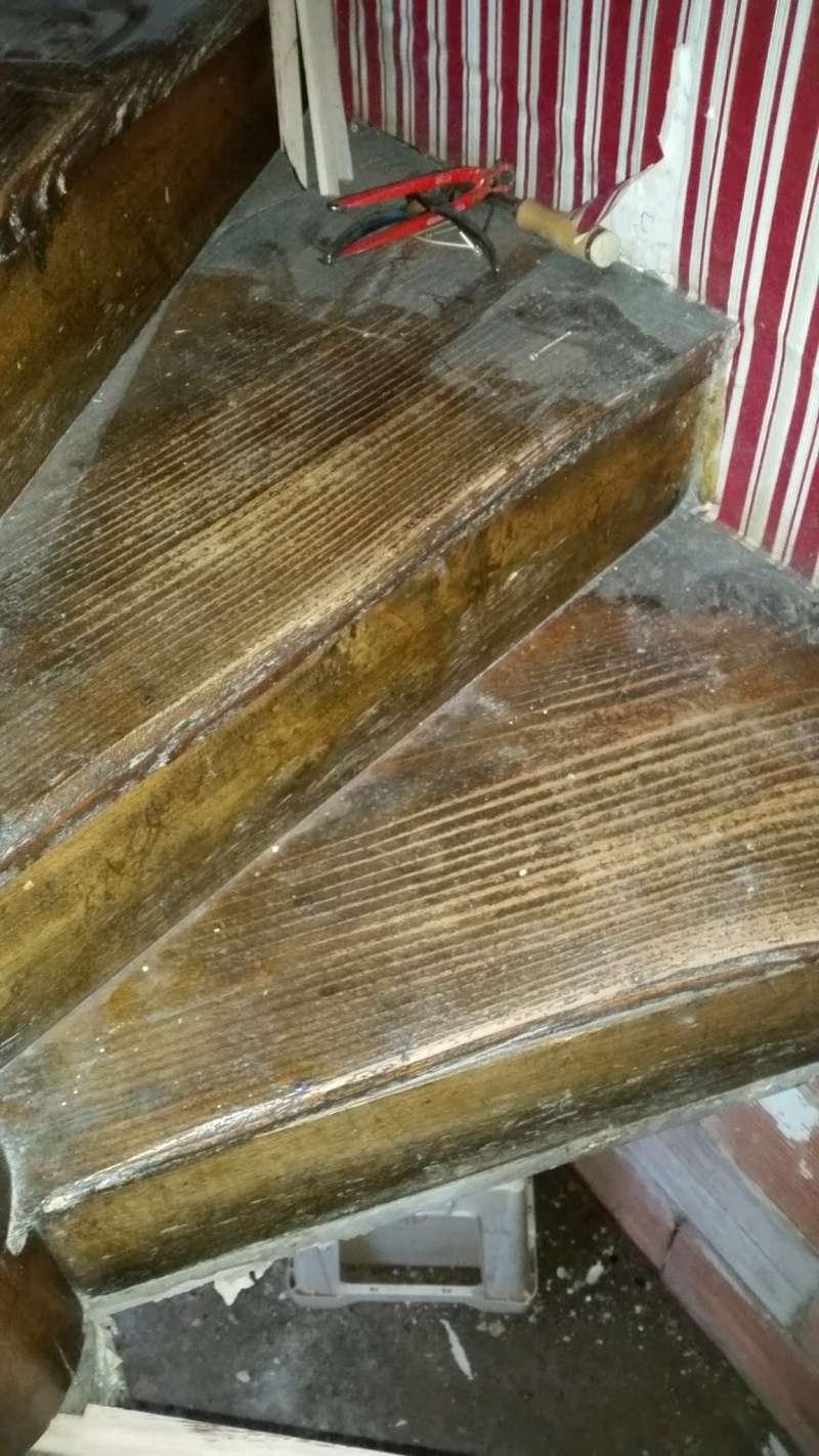 restauration des marche d'un escalier 20160512