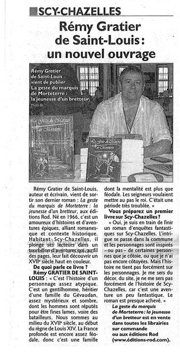La Geste du Marquis de Morteterre est publié Articl13