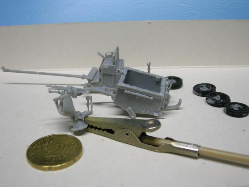 Attelage hippomobile d'affût Zwillingslafette 36 de 2 x MG 34 flak. [ ACE - 1/72° ] FINI Dscn3916