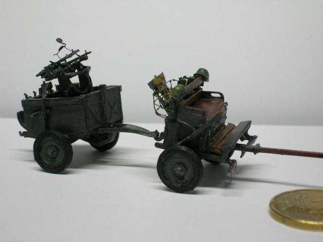Attelage hippomobile d'affût Zwillingslafette 36 de 2 x MG 34 flak. [ ACE - 1/72° ] FINI Dscn3936