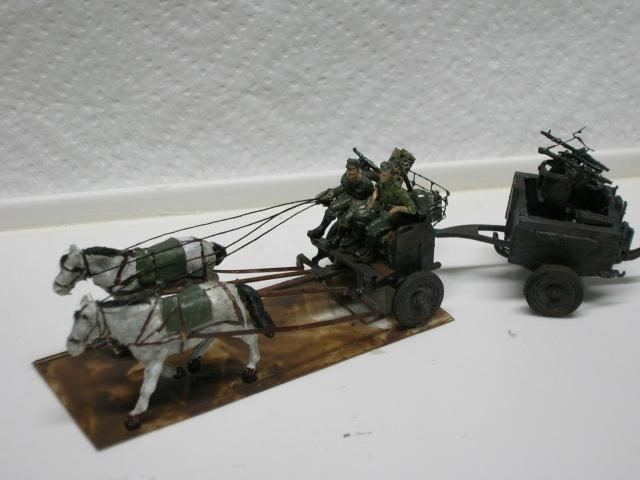 Attelage hippomobile d'affût Zwillingslafette 36 de 2 x MG 34 flak. [ ACE - 1/72° ] FINI Dscn4016