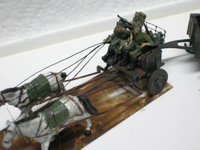 Attelage hippomobile d'affût Zwillingslafette 36 de 2 x MG 34 flak. [ ACE - 1/72° ] FINI Dscn4017