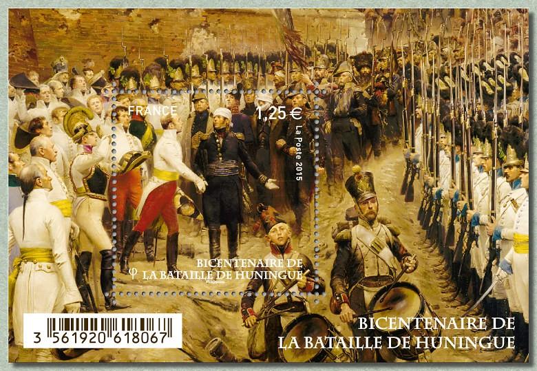 Timbre du bicentenaire de la bataille d'Huningue.  Batail10