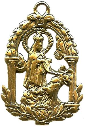 San Ildefonso imposición de la casulla por la Virgen (Ventana)(R. C. MPFV- Ildefonso 2) Ildefo10