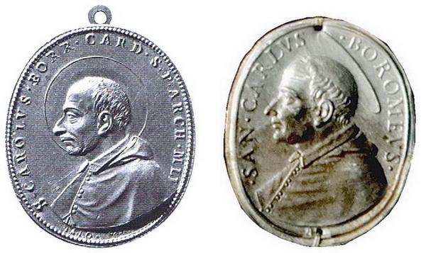 Las  MEDALLAS de San CARLOS BORROMEO. SIGLOS XVI- XVII- XVIII. Apuntes iconográficos. Mola_h11