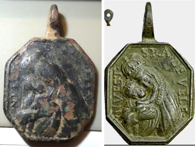 Medalla Crucifixión / N. S. de Belen S. XVIII Velen210