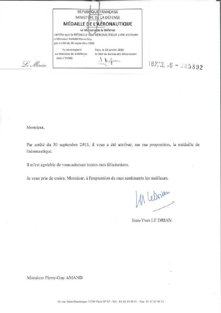 MEDAILLE  DE L'AERONAUTIQUE Mydail10