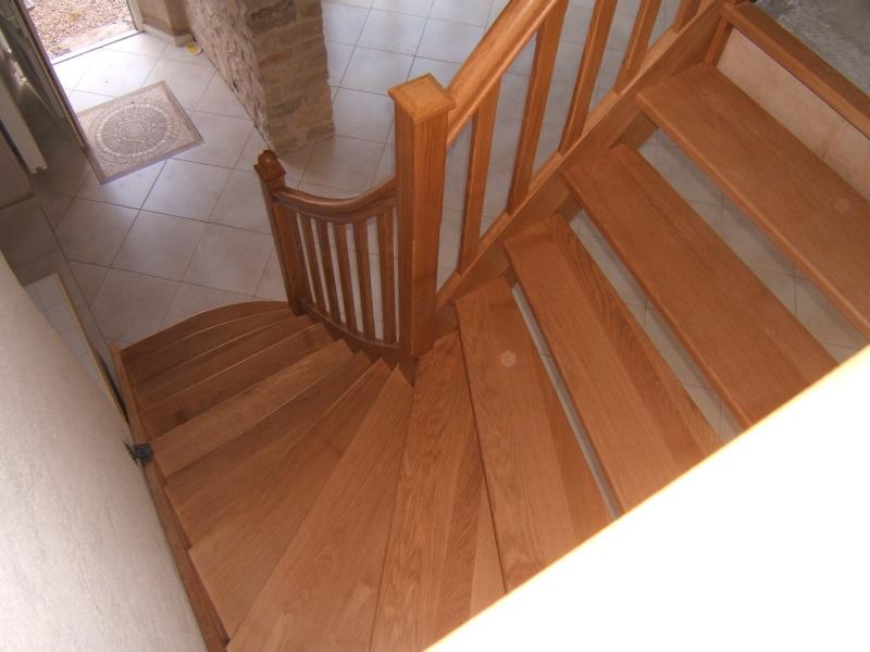 Escalier provisoire devenu définitif en pin sylvestre, à double balancements Dscf0311