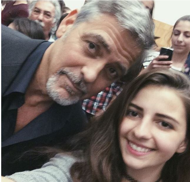 George Clooney visit an Armenian school / Tumo Center / UWC Dilijan College Bb10