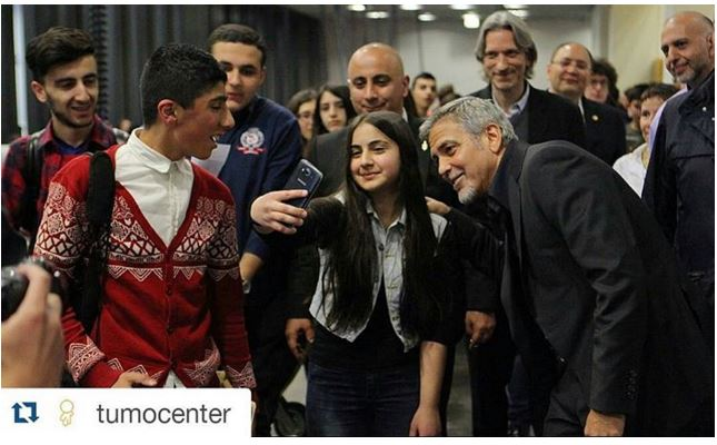 George Clooney visit an Armenian school / Tumo Center / UWC Dilijan College Bb210