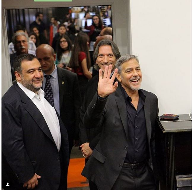 George Clooney visit an Armenian school / Tumo Center / UWC Dilijan College Bb310