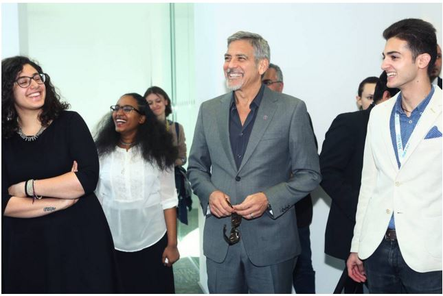 George Clooney visit an Armenian school / Tumo Center / UWC Dilijan College Bb810