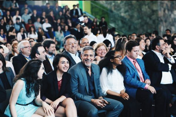 George Clooney visit an Armenian school / Tumo Center / UWC Dilijan College Bb910
