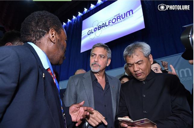 "George at the ""Against the Crime of Genozide"" Global Forum in Yerewan Oo10"
