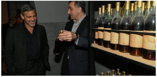 George Clooney visits Ararat Armenian Brandy factory Uu10