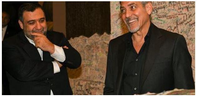 George Clooney visits Ararat Armenian Brandy factory Uu210