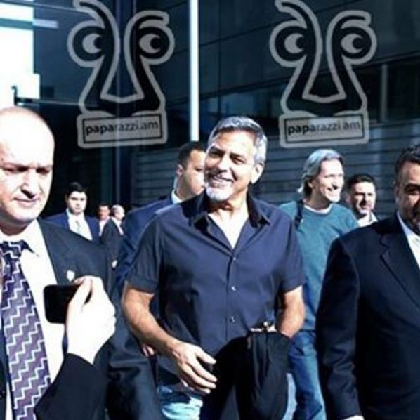 George Clooney arrives in Armenia 22. April 2016 Uu410