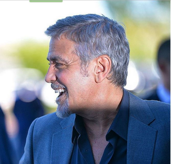George Clooney at dinner in Dolmama restaurant in Dilijan, Armenia Uu610